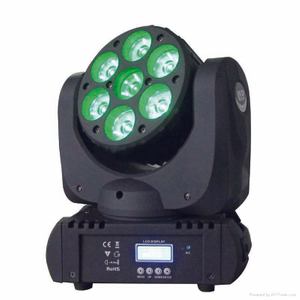 7x12w RGBW MIMI 4in1 led moving head light