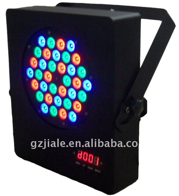 36pcs*/3w RGB Slim dmx 512 flat par 64 for dj for disco