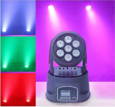 7pcs 4in1 led moving head wash beam party light stage light