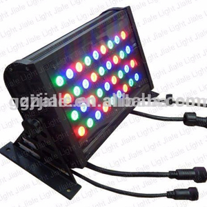 high lumen 36 pcs x3w rgb dmx outdoor led wall wash light