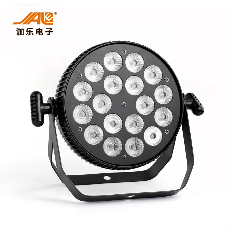 DMX Control Newest Flat 18x18w RGBWA UV 6in1 Par Light stage light
