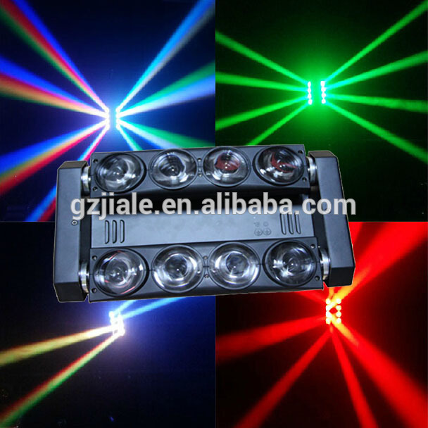 Professional 8 eyes RGBW 4in1 led spider Beam moving head DJ lights